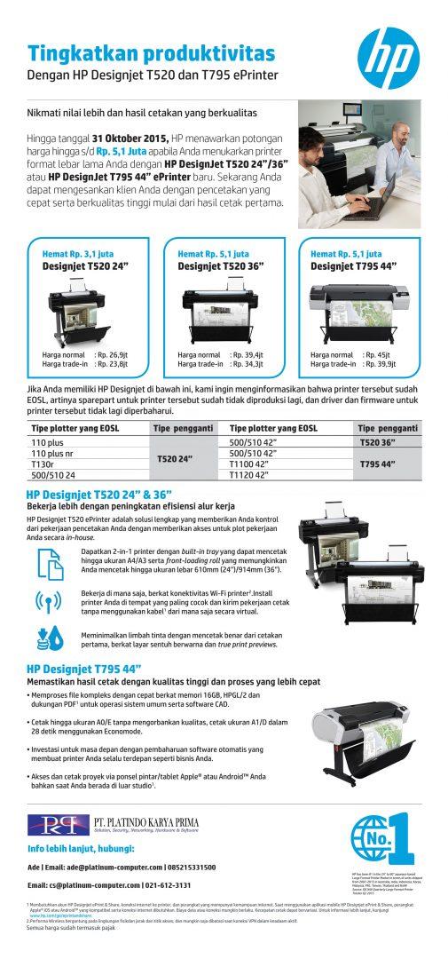 gambar HP Designjet T520 & T795 ePrinter