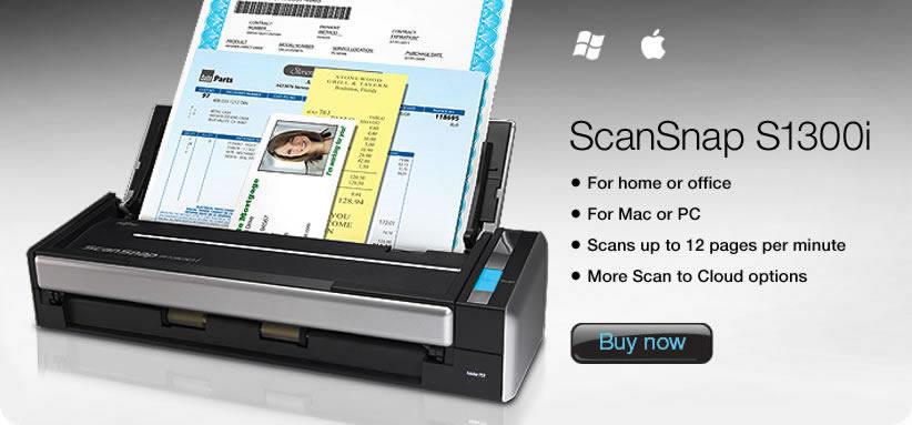 gambar FUJITSU Image Scanner ScanSnap S1300i