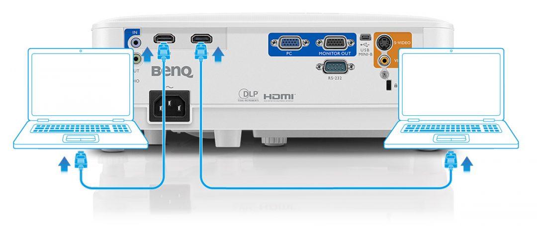 jual BENQ Projector MS550 port