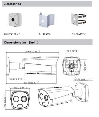 jual Acessories dan Dimensi Dahua DH-TPC-BF5421-T